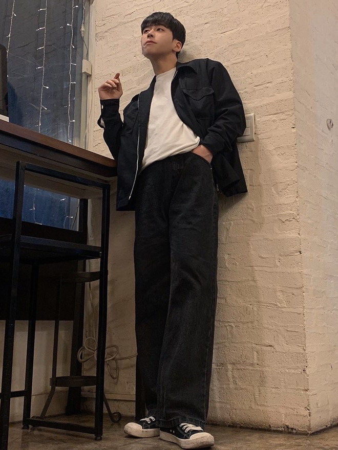 [ 인스타 189mnn님 ] XP51 BIG WIDE DENIM PANTS (Black)